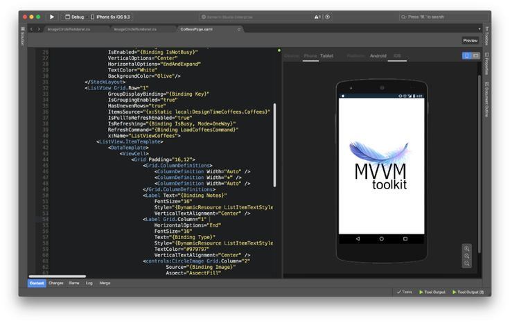 Xamarin Forms with MVVM Light