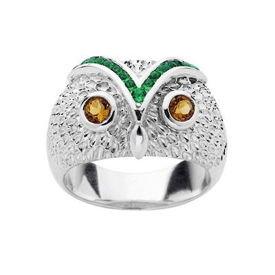 Sterling silver Karen Walker Classic Owl ring at Charlton Jewellers, Auckland, New Zealand