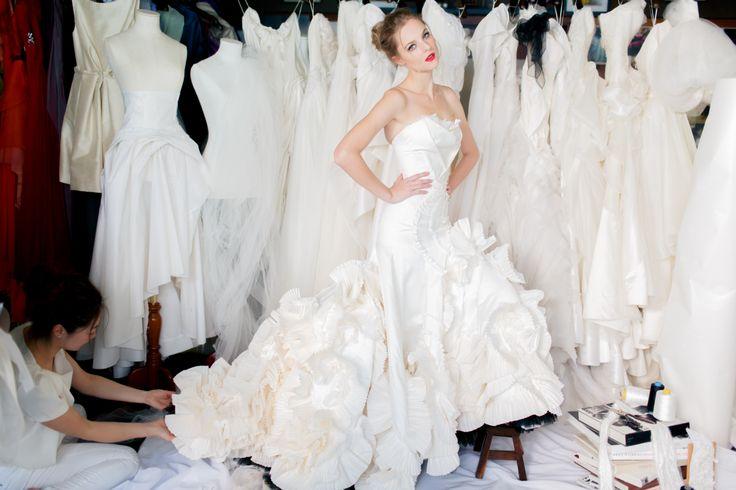 Autumn Leaves gown from Vivian Luk's White Collection #vivianluk #vivianlukatelier #white #bridal
