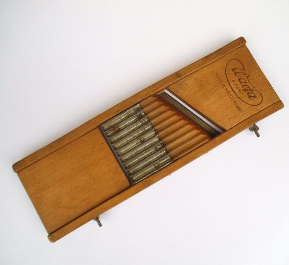 Rustic Wooden Mandolin Food Slicer. Waefa Suisse. Vegetable Slicer / Grater  Made in Switzerland