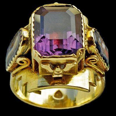 Antique Ecclesiastical Amethyt Ring