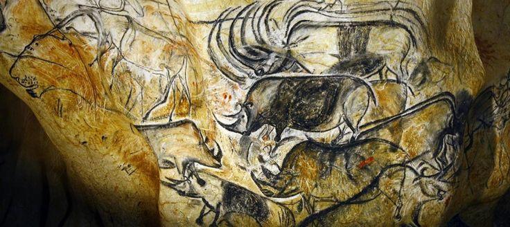 Série de peintures rupestres noires