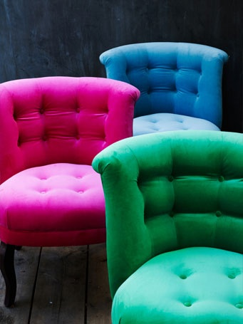 Awesome Velvet Chairs Are Available In Eight Fabulous Colours Ranging From  Sophisticated Neutrals To Eye Popping Brights. The Chairs Are Proudly Made  For U0027The ...