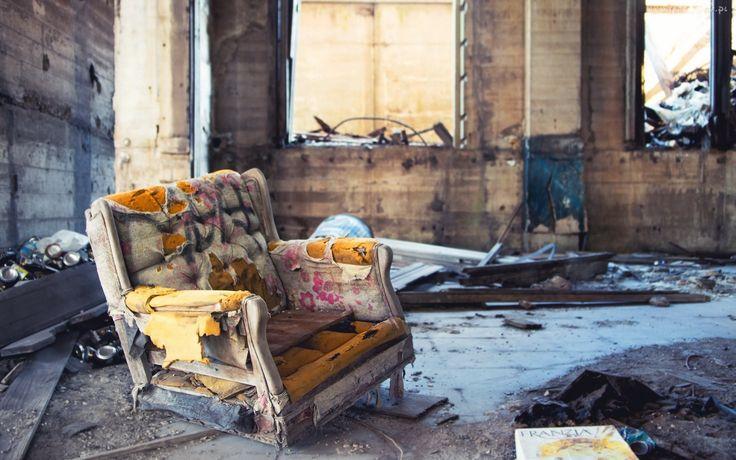 Zniszczony, Fotel, Ruiny