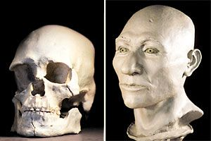 Seattle, Kennwick Man skull reconstruction , 9000 yrs old. I wish the anthropologist had not been stopped from doing more DNA tests. It is a fascinating find and probably holds more information about our ancient history. The connection we humans ALL are. JD