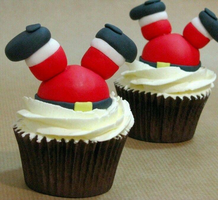 Cupcakes Santa Claus