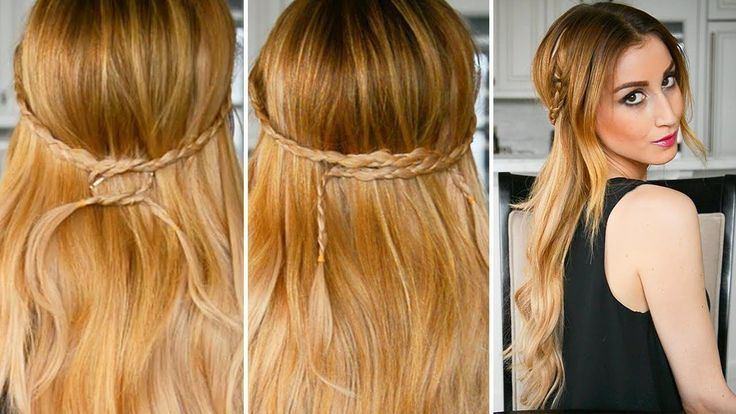 Irregular Braided Half Up Half Down Hairstyle (2 Ways) | Fancy Hair Tuto #StepByStepHairstyleTuto