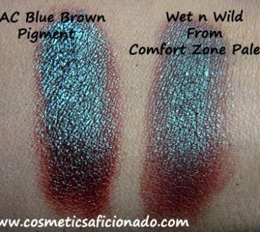 MAC Blue Brown Pigment Dupe. Yup have that wet n wild palette and its a perfect dupe
