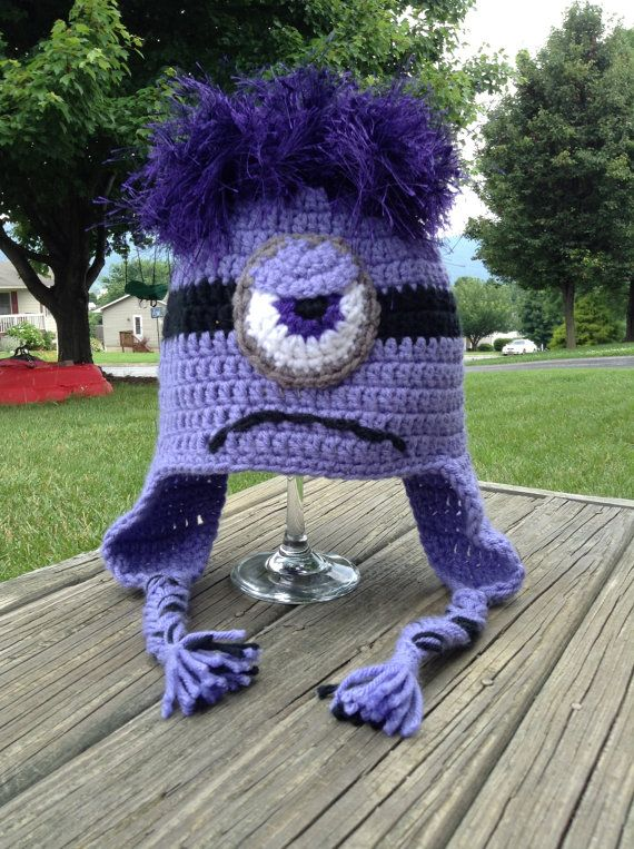 Crochet  Evil Minion Beanie/Hat from by BeesYarnCreations on Etsy, $15.00