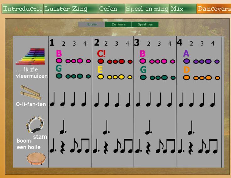 Diverse muzieklessen online. Hier het voorbeeld van 'The lion sleeps tonight' met uitleg, notatie, begeleiding, mogelijkheid tot een danceversie, etc.