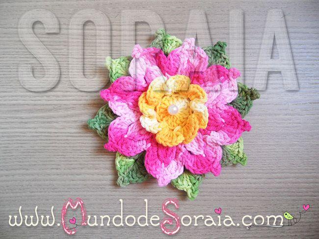 Crochet Flowers Tutorial By Carmen Heffernan : 17 Best images about Flores on Pinterest Crochet flower ...