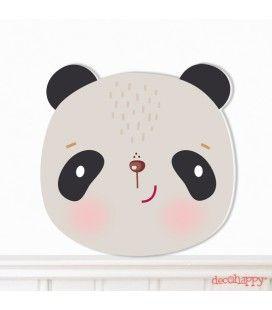 Cuadro infantil Panda troquelado