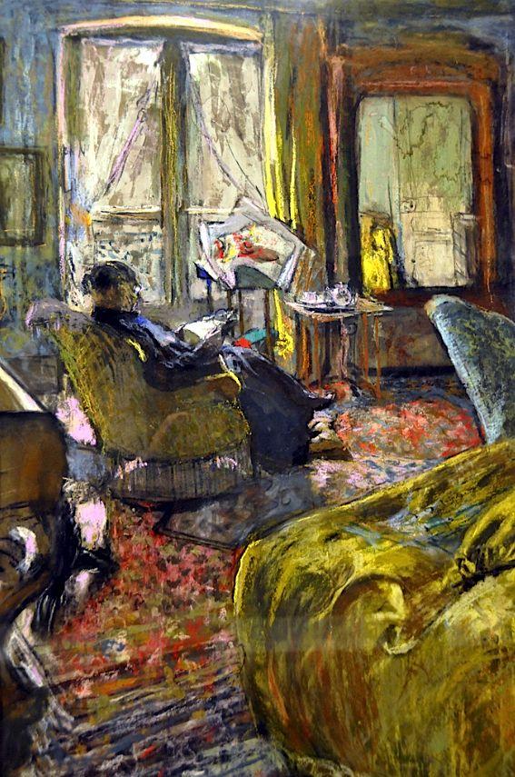 Edouard Vuillard - Interior with Woman Reading
