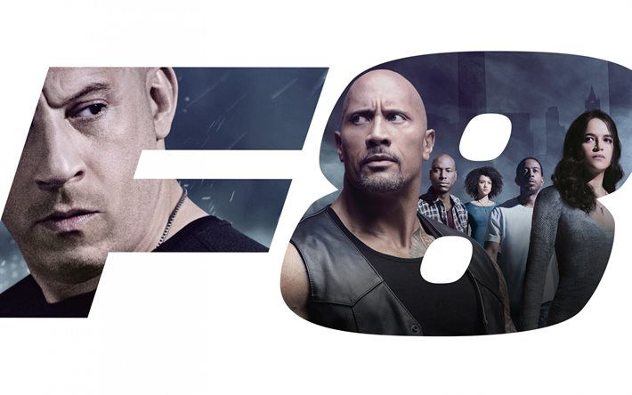 The Fate of the Furious, 2017, The Fast and the Furious 8, Michelle Rodriguez, FF 8, Fast Furious 8, Vin Diesel, Dwayne Johnson, Luke Hobbs