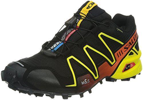 Salomon Speedcross 3 GTX Damen Traillaufschuhe, Schwarz/Gelb/Orange, EU 41 1/3 (UK 7,5) - http://on-line-kaufen.de/salomon/eu-41-1-3-uk-7-5-salomon-speedcross-3-gtx-damen