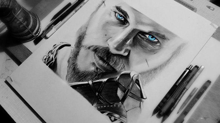 Drawing Travis Fimmel | Ragnar Lothbrok || Vikings