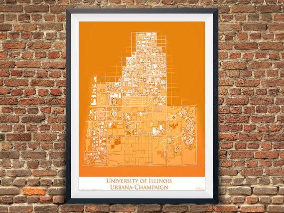 University of Illinois Urbana-Champaign Campus Map by Artalytics