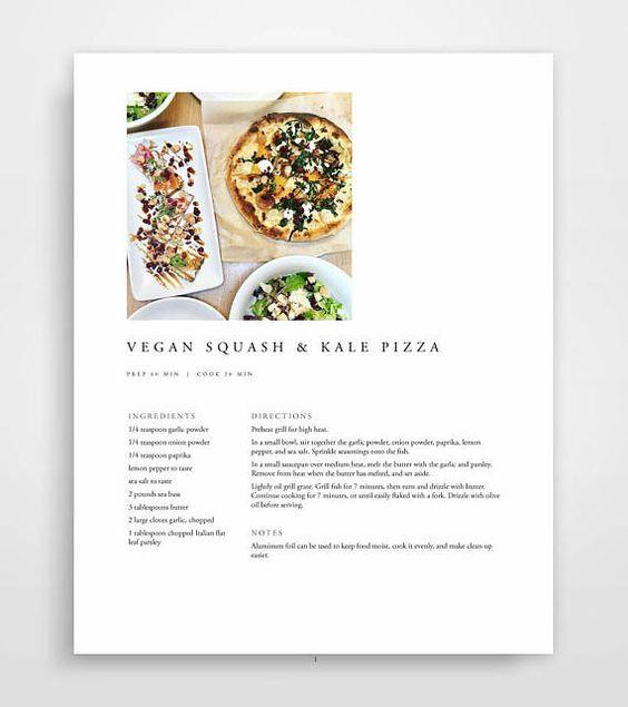 microsoft recipe book template