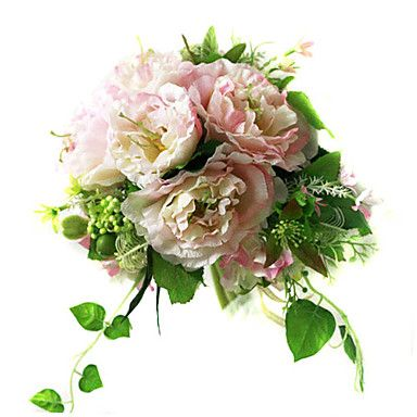 hibisco elegante ramo de gasa de seda con la decoración de la boda ronda / ramo de novia (0797-sim063) - EUR € 18.17