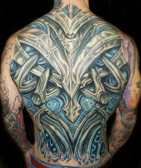Bio Mechanical Tattoo by Roman Abrego