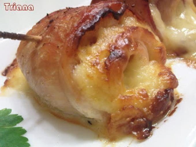 Receta : Rollitos de pollo con bacon y queso por Jmrivera