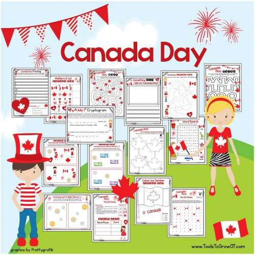 July 1st Canada Day Free resources, activities, printable handouts for students and children.
