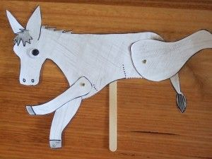 The Wonky Donkey - printable donkey split pin puppet