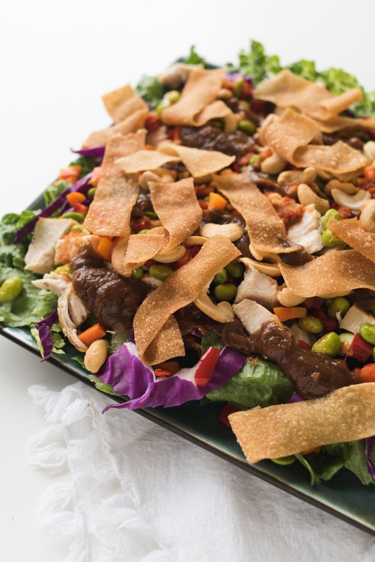 This recipe for Panera's Thai Chopped Chicken Salad is delicious. Who says salads have to be bland? This Panera salad is just what you've been craving!