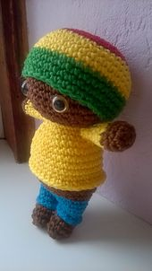 Ravelry: Jamaican Reggae Boy Doll pattern by Ineke Kieft
