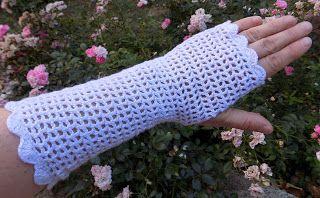 Moje tvořeníčko...: Letní bezprstové rukavice