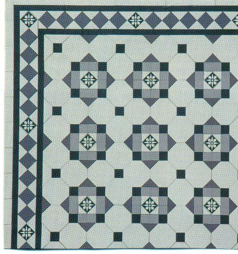 Edwardian Tiles - Glasgow with Glasgow Border