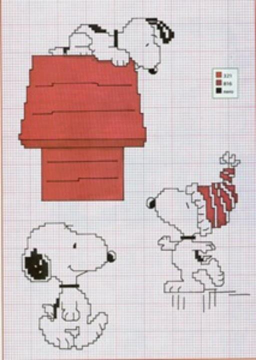 Cross stitch--more Snoopy!