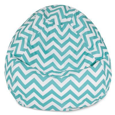 Chevron Bean Bag Chair Color: Teal - http://delanico.com/bean-bag-chairs/chevron-bean-bag-chair-color-teal-588790294/