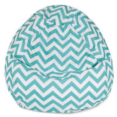 Chevron Bean Bag Chair Color: Teal - http://delanico.com/bean-bag-chairs/chevron-bean-bag-chair-color-teal-588790294/