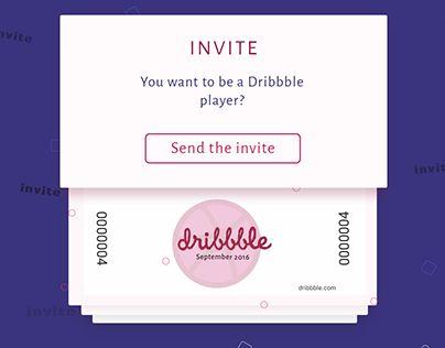 "Check out new work on my @Behance portfolio: ""Dribbble Invites, september 2016…"
