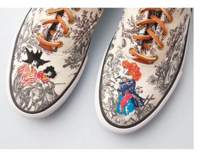 Ked's embroidered toile sneaks.  Credit: Richard Saja