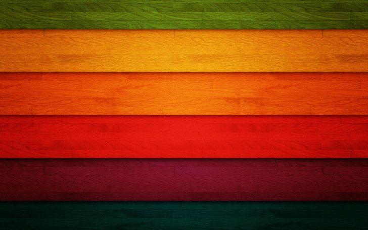 Colored horizontal wood planks Free HD Wallpaper