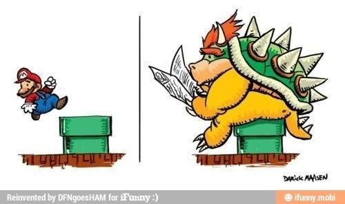 Well, he is a plumber... King koopa, Super mario art, Mario
