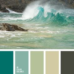"""Freshness aqua is the best suited for the bathroom. Mustard and emerald are woven into this palette, harmoniously complementing each other. A similar color scheme is suitable for decoration in the style of """"Provence"""", emphasizing simplicity and sincerity. Can decorate the bathroom with vintage brown interior."""