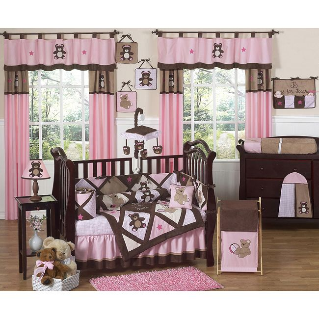 pink baby furniture. teddy bear crib bedding set from sweet jojo designs at ababy we offer for your baby great prices pink furniture