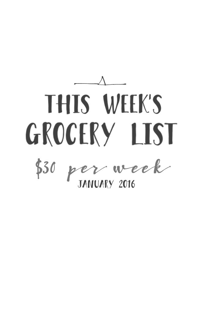 $30 weekly grocery list with receipts, meal plans and break downs and recipe ideas! How to save money on shopping and eat great all week!