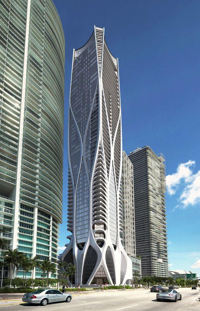 Tem início a construção do One Thousand Museum de Zaha Hadid em Miami,Cortesia de Zaha Hadid Architects