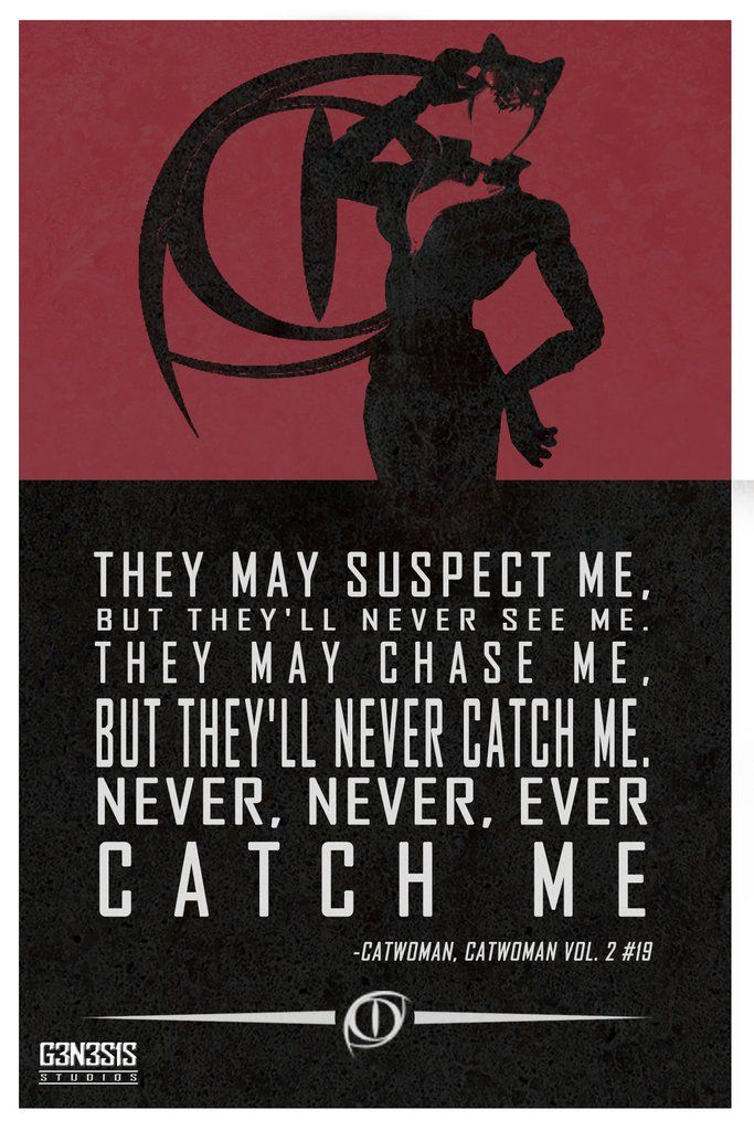 Catwoman quote from g3n3s1s studios