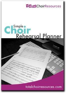 Total Choir Resources Rehearsal Planner