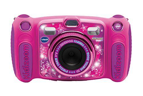 VTech – 507155 – Kidizoom Duo 5.0 – Rose: L'appareil photo 10 en 1 des Juniors avec double objectif photo, selfies, vidéo, musique,…
