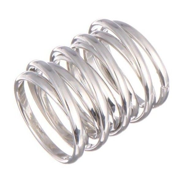 Yoins Chunky Coil Ring-Silver ($6.11) ❤ liked on Polyvore featuring jewelry, rings, yoins, silver, chunky rings, coil ring, chunky silver jewelry, wide silver ring and silver jewellery
