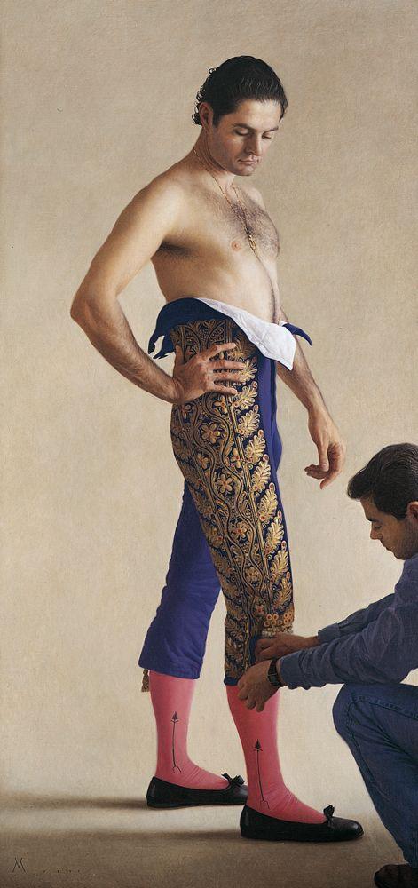 Ντύσιμο του Ραφαέλ Γκονζάλες  (1999) Λάδι σε καμβά