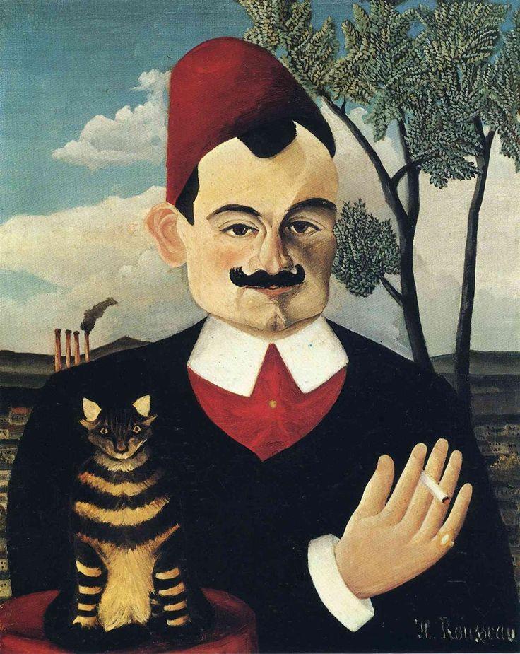 Henri Rousseau - Portrait of Pierre Loti, 1891 | WikiArt.org