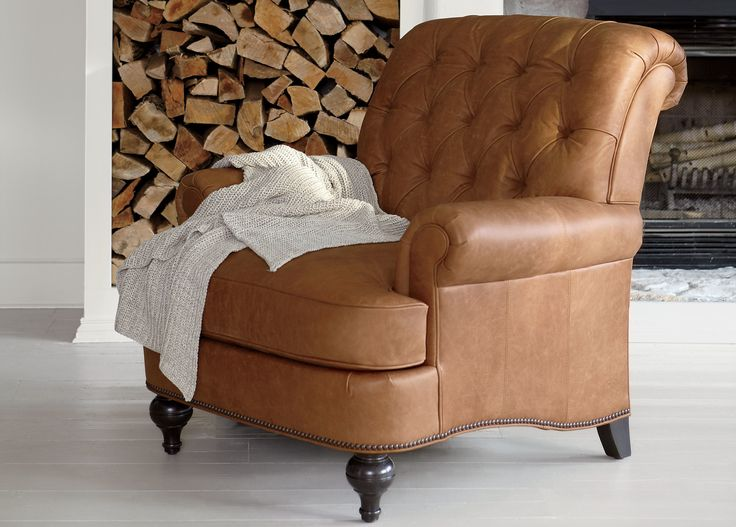 Shawe Leather Chair OMG. I love Ethan Allen..I have fallen in love with this chair.