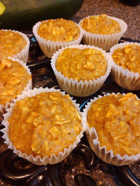 Clean Mini Pumpkin Zucchini Muffins #jenfit